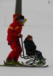 Ski lessons for disabled people