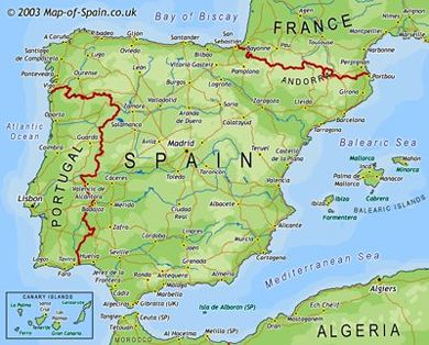 Map of Spain Useful maps of Spain to make your holidays in Spain