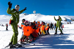 Skiing classes in Sierra Nevada, Granada
